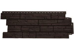 Фасадная панель Grand Line Сланец коричневая Сайдинг siding-msk.ru