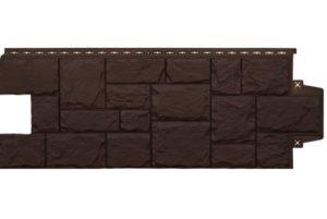 Фасадная панель Grand Line Крупный камень стандарт коричневая Сайдинг siding-msk.ru