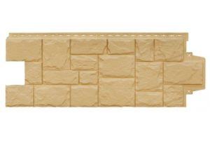 Фасадная панель Grand Line Крупный камень стандарт песочная Сайдинг siding-msk.ru
