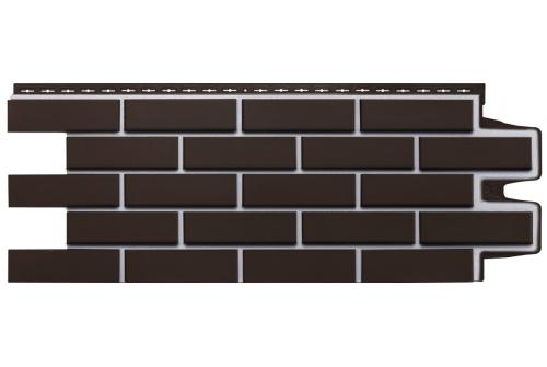 Фасадная панель Grand Line Клинкерный кирпич Премиум шоколадная Сайдинг siding-msk.ru