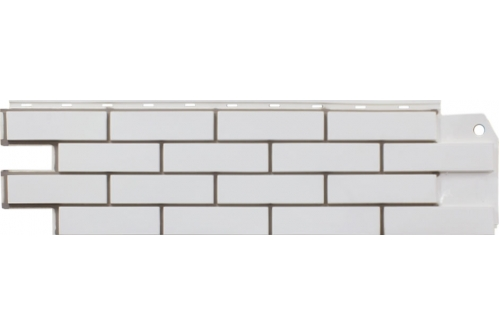 Фасадная панель Grand Line Флэмиш кирпич белый со швом Сайдинг siding-msk.ru