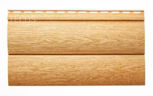 Виниловый сайдинг Tecos «Блок-хаус» Оранжевый Виниловый сайдинг siding-msk.ru
