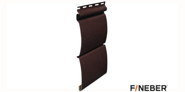 Виниловый сайдинг Fineber BLOCKHOUSE Темно-коричневый Виниловый сайдинг siding-msk.ru