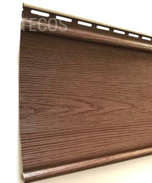 Виниловый сайдинг Tecos «Облицовочная доска» Коричневый Виниловый сайдинг siding-msk.ru