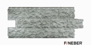 Фасадные панели Fineber ДАЧНЫЙ Доломит Светло-серый Сайдинг siding-msk.ru