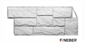 Фасадные панели Fineber ДАЧНЫЙ Камень крупный Белый Сайдинг siding-msk.ru