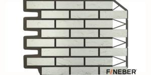 Фасадные панели Fineber ДАЧНЫЙ Кирпич баварский Белый Сайдинг siding-msk.ru