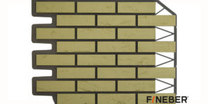 Фасадные панели Fineber ДАЧНЫЙ Кирпич баварский Желтый Сайдинг siding-msk.ru