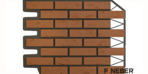 Фасадные панели Fineber ДАЧНЫЙ Кирпич баварский Красный Сайдинг siding-msk.ru