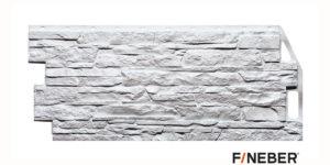 Фасадные панели Fineber ДАЧНЫЙ Скала Белый Сайдинг siding-msk.ru
