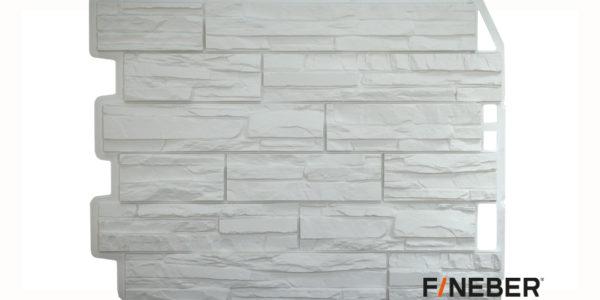 Фасадные панели Fineber ДАЧНЫЙ Скол Белый Сайдинг siding-msk.ru
