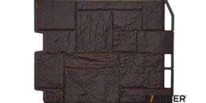 Фасадные панели Fineber ДАЧНЫЙ Туф Темно-коричневый Сайдинг siding-msk.ru