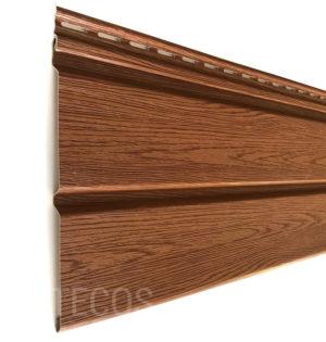 Виниловый сайдинг Tecos «Вагонка» Светло-коричневый Виниловый сайдинг siding-msk.ru