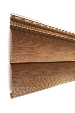 Виниловый сайдинг Tecos «Блок-хаус» Светло-коричневый Виниловый сайдинг siding-msk.ru