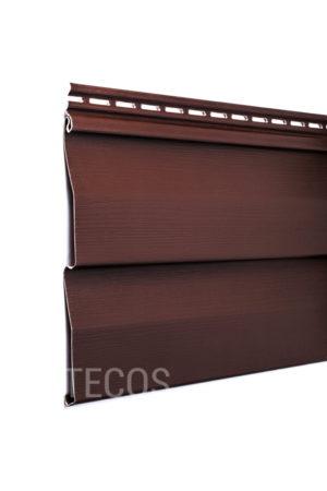 Виниловый сайдинг Tecos «Ardennes — корабельный брус» (D4.5D) Темно-коричневый Виниловый сайдинг siding-msk.ru