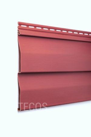 Виниловый сайдинг Tecos «Ardennes — корабельный брус» (D4.5D) Бордовый Виниловый сайдинг siding-msk.ru