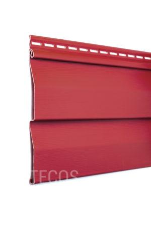 Виниловый сайдинг Tecos «Ardennes — корабельный брус» (D4.5D) Красный Виниловый сайдинг siding-msk.ru