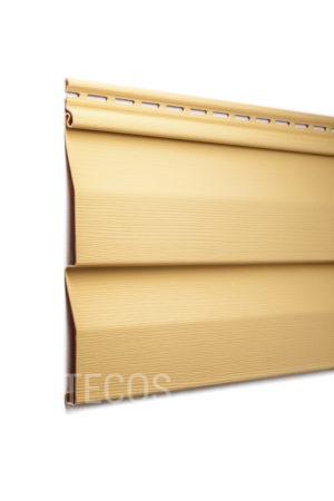 Виниловый сайдинг Tecos «Ardennes — корабельный брус» (D4.5D) Светло-коричневый Виниловый сайдинг siding-msk.ru