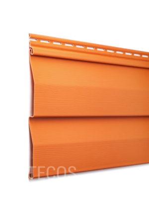 Виниловый сайдинг Tecos «Ardennes — корабельный брус» (D4.5D) Оранжевый Виниловый сайдинг siding-msk.ru