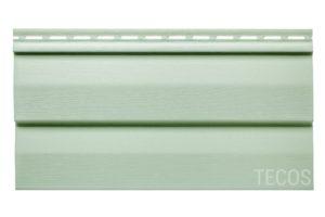Виниловый сайдинг Tecos «Корабельный брус» Светло-зеленый Виниловый сайдинг siding-msk.ru