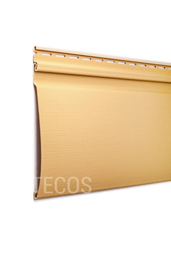 Виниловый сайдинг Tecos «Ardennes — оцилиндрованный брус» (S8T) Светло-желтый Виниловый сайдинг siding-msk.ru