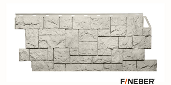 Фасадные панели Fineber STANDART Камень дикий Бежевый Сайдинг siding-msk.ru