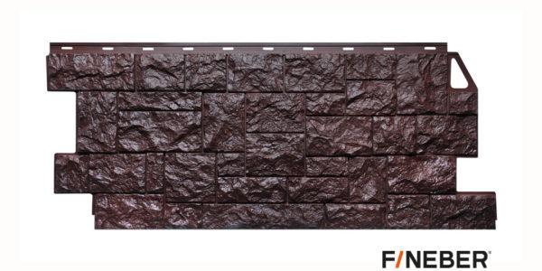 Фасадные панели Fineber STANDART Камень дикий Темно-коричневый Сайдинг siding-msk.ru