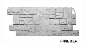 Фасадные панели Fineber STANDART Камень дикий Белый Сайдинг siding-msk.ru
