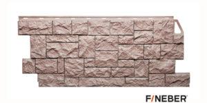 Фасадные панели Fineber STANDART Камень дикий Коричневый Сайдинг siding-msk.ru
