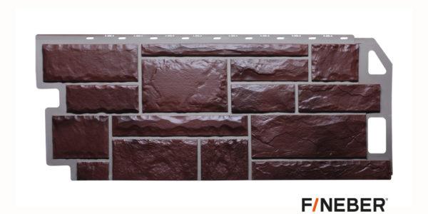 Фасадные панели Fineber STANDART Камень Темно-коричневый Сайдинг siding-msk.ru