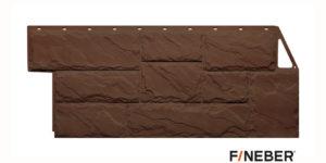 Фасадные панели Fineber STANDART Камень крупный Коричневый Сайдинг siding-msk.ru