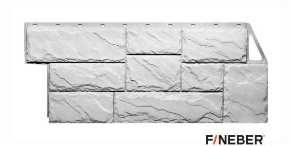 Фасадные панели Fineber STANDART Камень крупный Белый Сайдинг siding-msk.ru