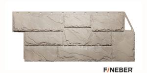 Фасадные панели Fineber STANDART Камень крупный Бежевый Сайдинг siding-msk.ru