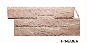 Фасадные панели Fineber STANDART Камень крупный Оранжевый Сайдинг siding-msk.ru