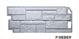 Фасадные панели Fineber STANDART Камень Белый Сайдинг siding-msk.ru