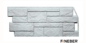 Фасадные панели Fineber STANDART Камень природный Белый Сайдинг siding-msk.ru