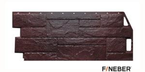Фасадные панели Fineber STANDART Камень природный Темно-красный Сайдинг siding-msk.ru