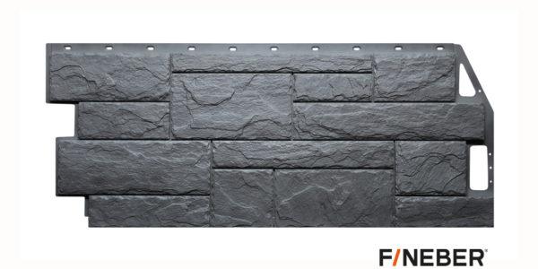 Фасадные панели Fineber STANDART Камень природный Серый Сайдинг siding-msk.ru