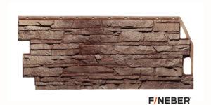 Фасадные панели Fineber STANDART Скала Жёлто -коричневый Сайдинг siding-msk.ru
