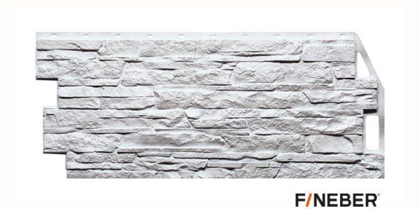 Фасадные панели Fineber STANDART Скала Белый Сайдинг siding-msk.ru