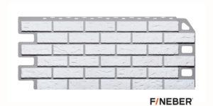 Фасадные панели Fineber STANDART Кирпич Белый Сайдинг siding-msk.ru