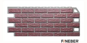 Фасадные панели Fineber STANDART Кирпич Красный Сайдинг siding-msk.ru