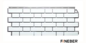 Фасадные панели Fineber STANDART Кирпич облицовочный Белый Сайдинг siding-msk.ru