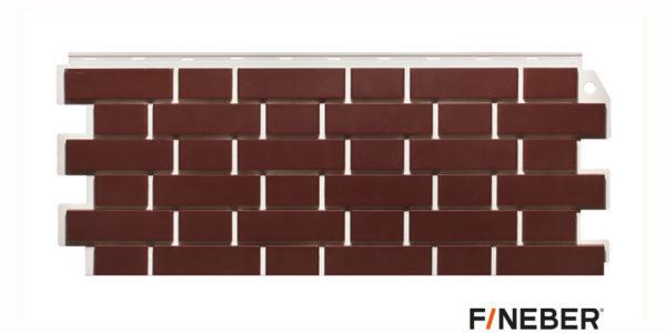 Фасадные панели Fineber STANDART Кирпич облицовочный Коричневый Сайдинг siding-msk.ru