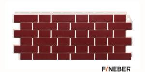Фасадные панели Fineber STANDART Кирпич облицовочный Бордовый Сайдинг siding-msk.ru