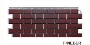 Фасадные панели Fineber STANDART Кирпич облицовочный Темно-коричневый Сайдинг siding-msk.ru