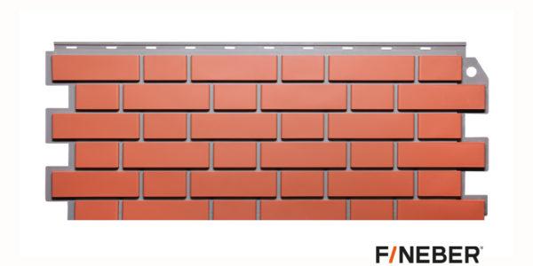Фасадные панели Fineber STANDART Кирпич облицовочный Красный Сайдинг siding-msk.ru