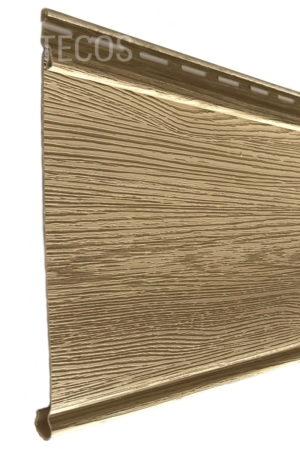 Виниловый сайдинг Tecos «Облицовочная доска» Светло-желтый Виниловый сайдинг siding-msk.ru