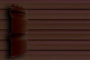 Акриловый сайдинг Grand Line  Корабельный брус слим Темно-красный Акриловый сайдинг siding-msk.ru