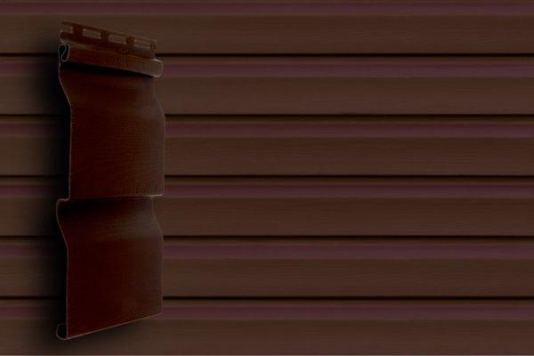 Акриловый сайдинг Grand Line  Корабельный брус Темно-красный Акриловый сайдинг siding-msk.ru